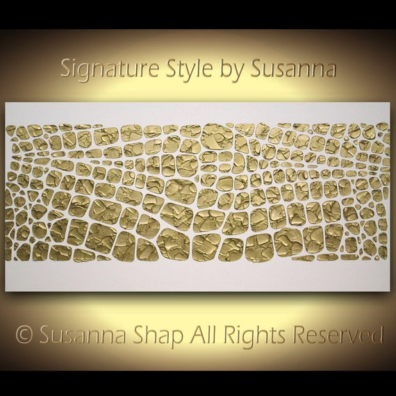 ORIGINAL Abstract Painting Gold Large Modern Art, Textured Wall Art Canvas Palette Knife Painting Susanna Made to Order