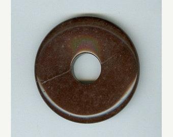 SALE 45mm Brown Jasper  PI Donut Pendant 1339