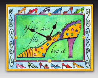 If the Shoe Fits Clock
