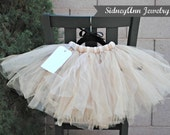 Tan Tutu Skirt, Tan Tulle Skirt, Flower Girl Tutu Skirt, Little Girl Skirt, 1st Birthday Tutu, Ballet Dancer Tutu, Little Princess Skirt