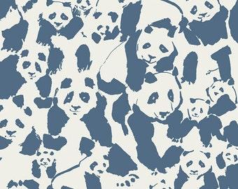 20% OFF! Katarina Roccella for Art Gallery FABRIC - Pandalicious - Pandalings Pod - Night