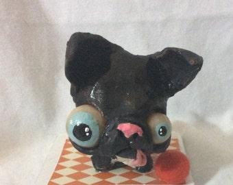 Zombie terrier OOak  art doll