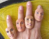 Bald Ken Doll - upcycled adjustable ring - D