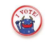 I Vote - button