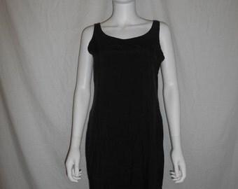 SALE Vintage 90s black dress, silk dress, minimalist dress