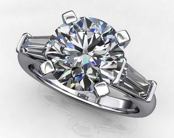 laurel ring – 2 carat diamond cut NEO moissanite engagement ring