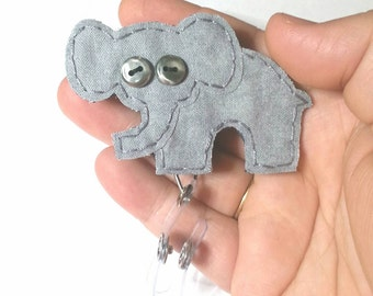 Elephant Badge Reel, Elephant Badge Card Holder, Elephant, ID Holder,Nursing Name Badge Holder, Badge Reel,Retractable,Lanyard,Made to Order