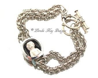 Frozen Charlotte Doll Bracelet Watch Doll One-of-a-Kind Steampunk Watch