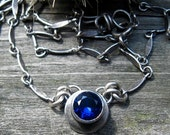 FLASH Sale 20% OFF Blue sapphire sterling silver necklace