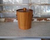 Vintage Mid Century Modern KMC Wood Ice Bucket