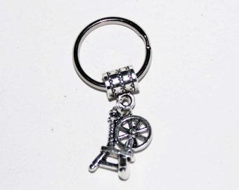 Silver Spinning Wheel Key Chain Key Ring Key Holder Key Fob KC-Gen167