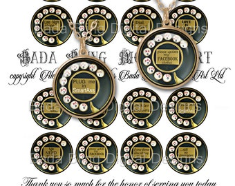 new, 1.5 inch circles, We NEED To Talk,   INSTANT Digital Download at Checkout, digital collage sheets for pendants, pill cases, badges