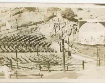vintage photo 1909 RARE CAtalina Island Avalon Amphitheater Bowl California