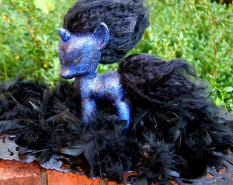 "OOAK Giant My Little Pony ""The Tantabus"" Friendship is Magic Custom G4 Halloween Artdoll"