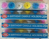 Vintage / Betty Crocker (R) Birthday Candle Holders / Four Packages / #24 Items / Altered Art