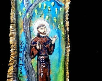 St Francis of Assisi Original painting