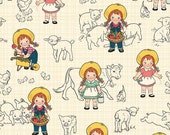 Farm Girl - By October Afternoon - For Riley Blake - Main Cream ((C5020) - 1 Yard - 9.95 Dollars