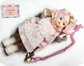 SALE-Creepy Old Doll Necklace Antique Toy Doll babydoll Jewelry