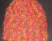 New Handmade Berry Angel Hair Ribbed Knit Hat - Women's Small - Medium