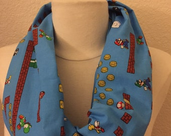 old School NES Nintendo Super Mario Bros Circle Infinity Scarf