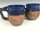marathon mug, 26.2, Handmade personalized pottery, ready to ship
