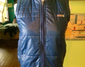 Adorable womens 1980's navy blue vest. Size Small