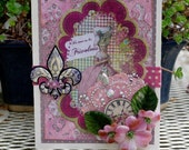 Marie Antoinette Birthday Greeting Card
