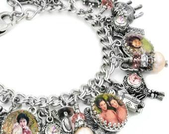Asian Jewelry, Asian Bracelet, Oriental Jewelry, Oriental Bracelet, Geisha Bracelet, Asian Charm Bracelet, Chinese Bracelet