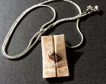 The Marauder's Map Mini Necklace