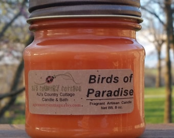 BIRDS of PARADISE CANDLE - Highly Scented - Fruity Floral