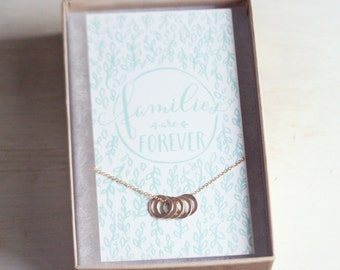 Families are Forever - 14k gold-filled Circle Necklace
