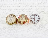 Watch Ring, Statement Ring, Clock Face Ring, Steampunk Style Ring, Vintage Style Ring, Clock Face, Adjustable Ring, Timepiece Ring