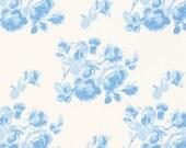 Tanya Whelan, Sadie's Dance Card collection, Tonal Roses on blue, yard