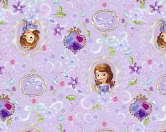 Disney's Sofia the first, Framed Sofia on Lavender, LAST 34 Inches
