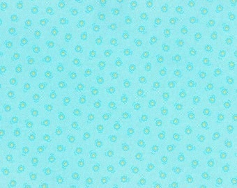 Lecien Flower Sugar Spring 2015 Small Blue Accent Quilting Fabric 1 yard, 31132L-70