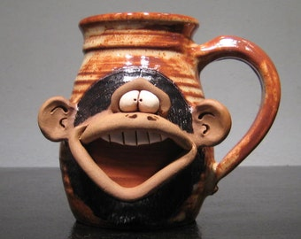 Happy Monkey Mug ....                                             e884