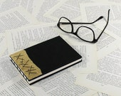 Black and Gold Hardcover Notebook