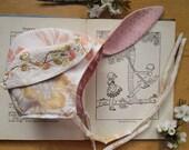 Woodland bunny bonnet by Heart Felt, size  9-12 months