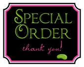 Special order for Andrea62777- RUSH  FEDEX- floral stickers