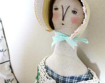 Fanny Weed FolkArt primitive prairie Doll