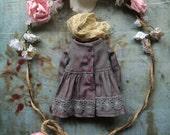 Shepherdess Coat dress for Blythe - lavender