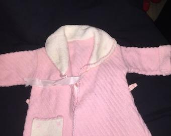 Vintage Pink Doll Robe
