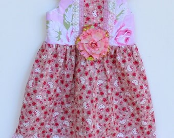 Floral Hello Kitty Girls Dress