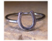 Horseshoe Ring - Silver Equestrian Jewelry - Midi Rings