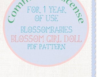 Commercial License Blossombabies Blossom Girl PDF Pattern