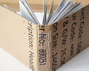 Mail Book - Recycled Paper Notebook - Mini Travel Journal