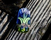 Tulip, Focal Bead, Handmade Artisan Glass Lampwork Bead, Simply Lampwork by Nancy Gant SRA G55