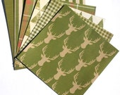 Green - 6x6 Recollections Sleigh Bells Ring Scrapbooking Paper Pack