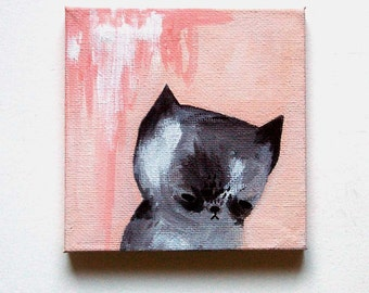 cat painting, missing you