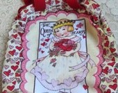 "Vintage Early 1990s Mary Engelbreit ""Queen of Hearts"" Handbag/Purse New and Mint"